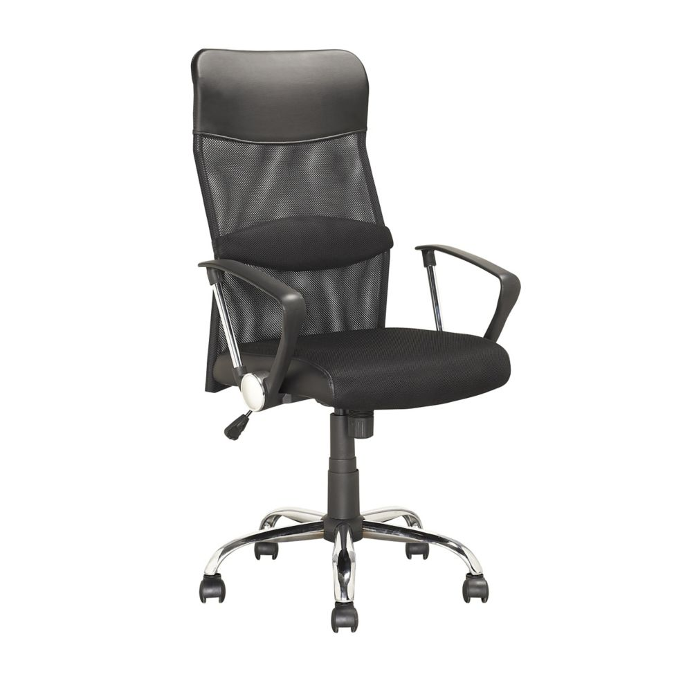 LOF-908-O Executive Office Chair in Black Leatherette and Mesh
