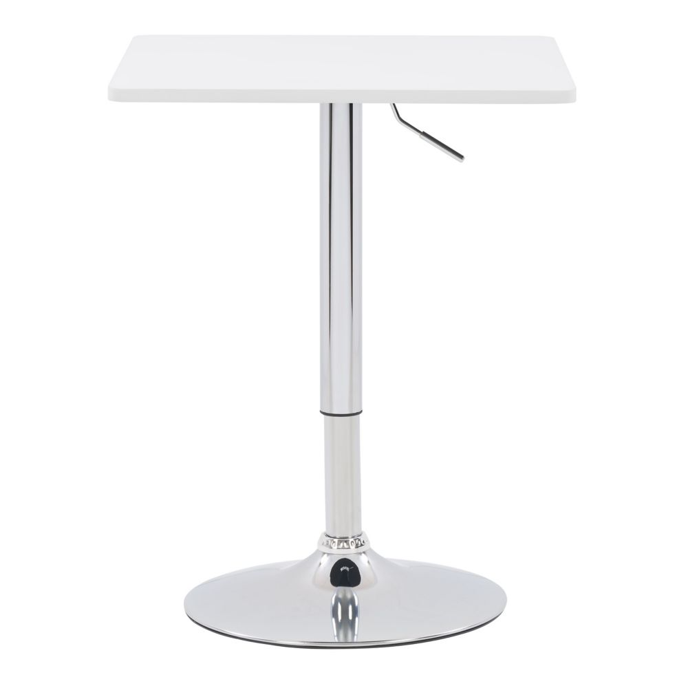 DAW-610-T Adjustable Height Square Wooden Table in White