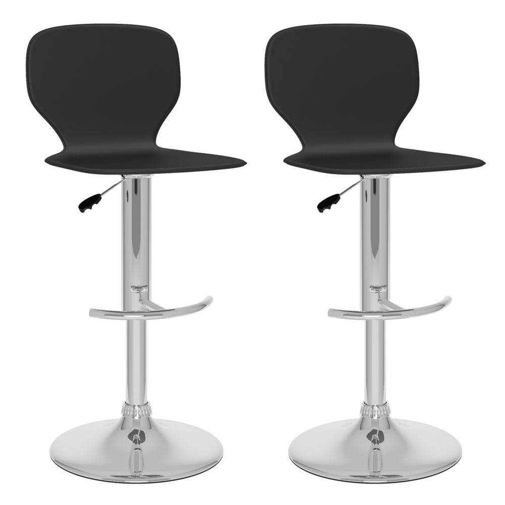 B-702-VPD Slim Adjustable Bar Stool in Black Leatherette, set of 2 B-702-VPD in Canada
