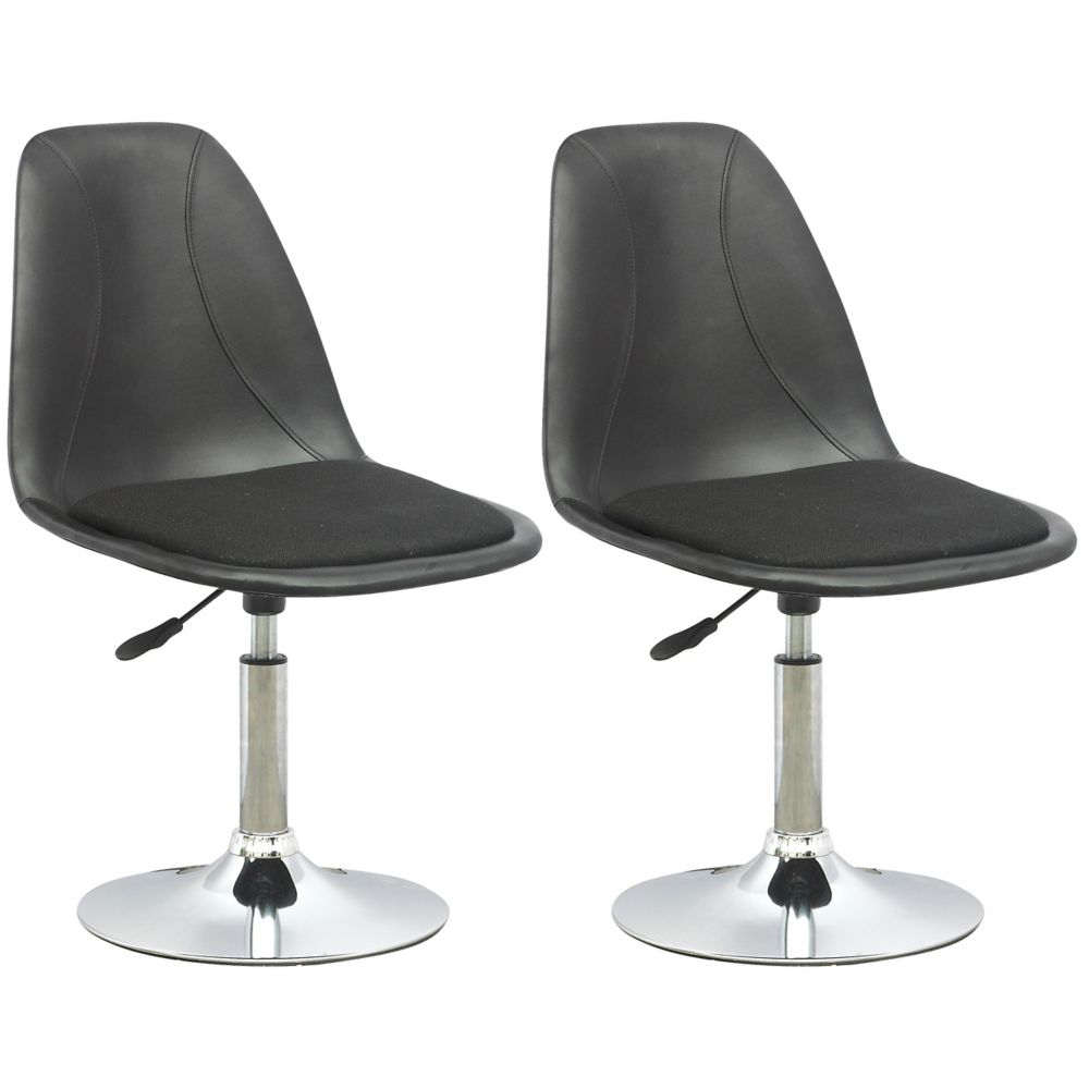 DPV-506-B Adjustable Barstool in Black Leatherette with Fabric Seat, set of 2 DPV-506-B in Canada