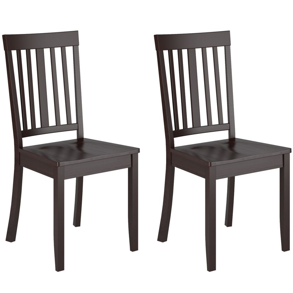 DAT-195-C Atwood Cappuccino Stained Dining Chairs, Set of 2