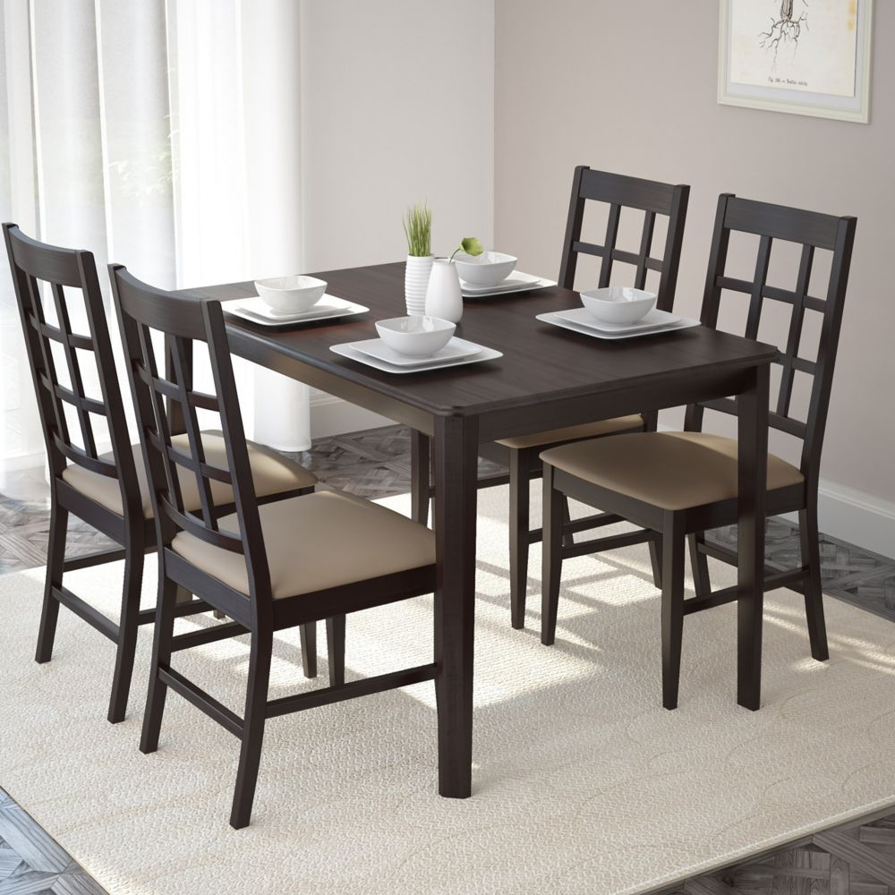 DRG-695-Z Atwood 5pc Dining Set, with Grey Stone Leatherette Seats DRG-695-Z Canada Discount
