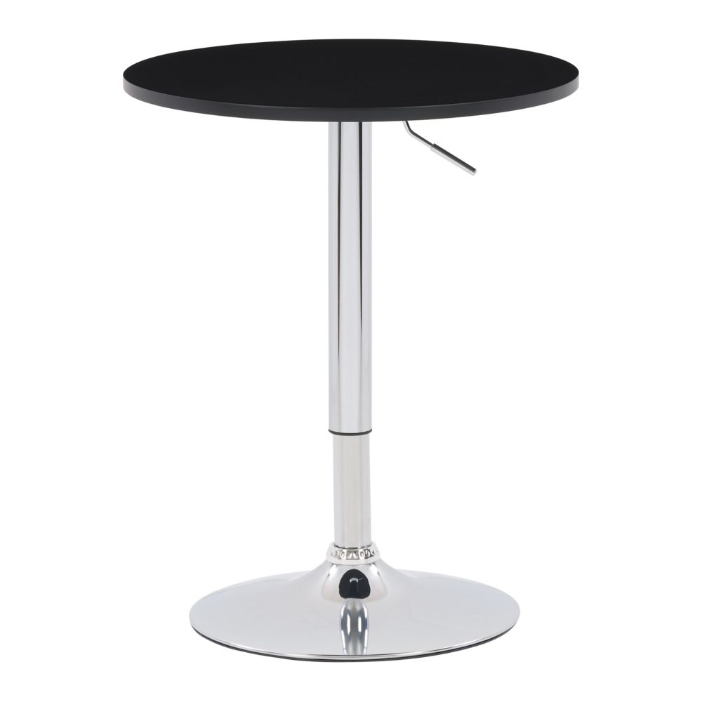 DAW-500-T Table ronde ajustable, finition bois Noir