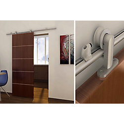 Onward Urban Style Visible Rail System For Decorative Barn Doors