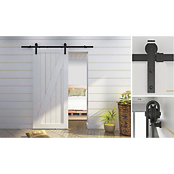 Onward Rustic Style Visible Rail System For Decorative Barn Doors