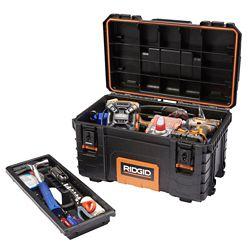 RIDGID Boîte à outils professionnelle, 22po, noir