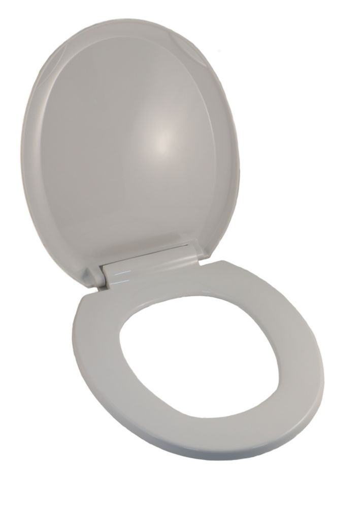 Universal Round Front Bowl Toilet Seat in White with Slow Close Hinges