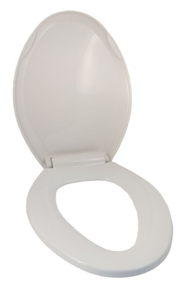 Universal Toilet Seat: Fits Elongated Bowl Toilets In White With Easy Remove Slow Close Hinges 19-553A Canada Discount