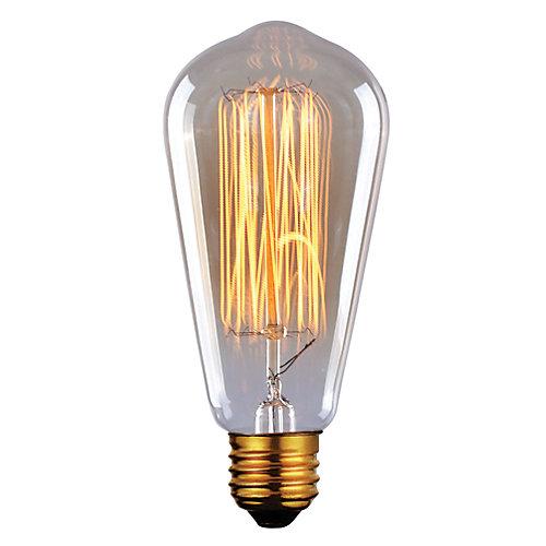 60W Vintage Filament Tapered Bulb