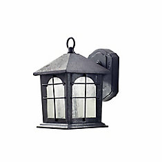 Home Decorators Collection Outdoor Aged Iron Led Wall Lantern 9 Inch The Home Depot Canada