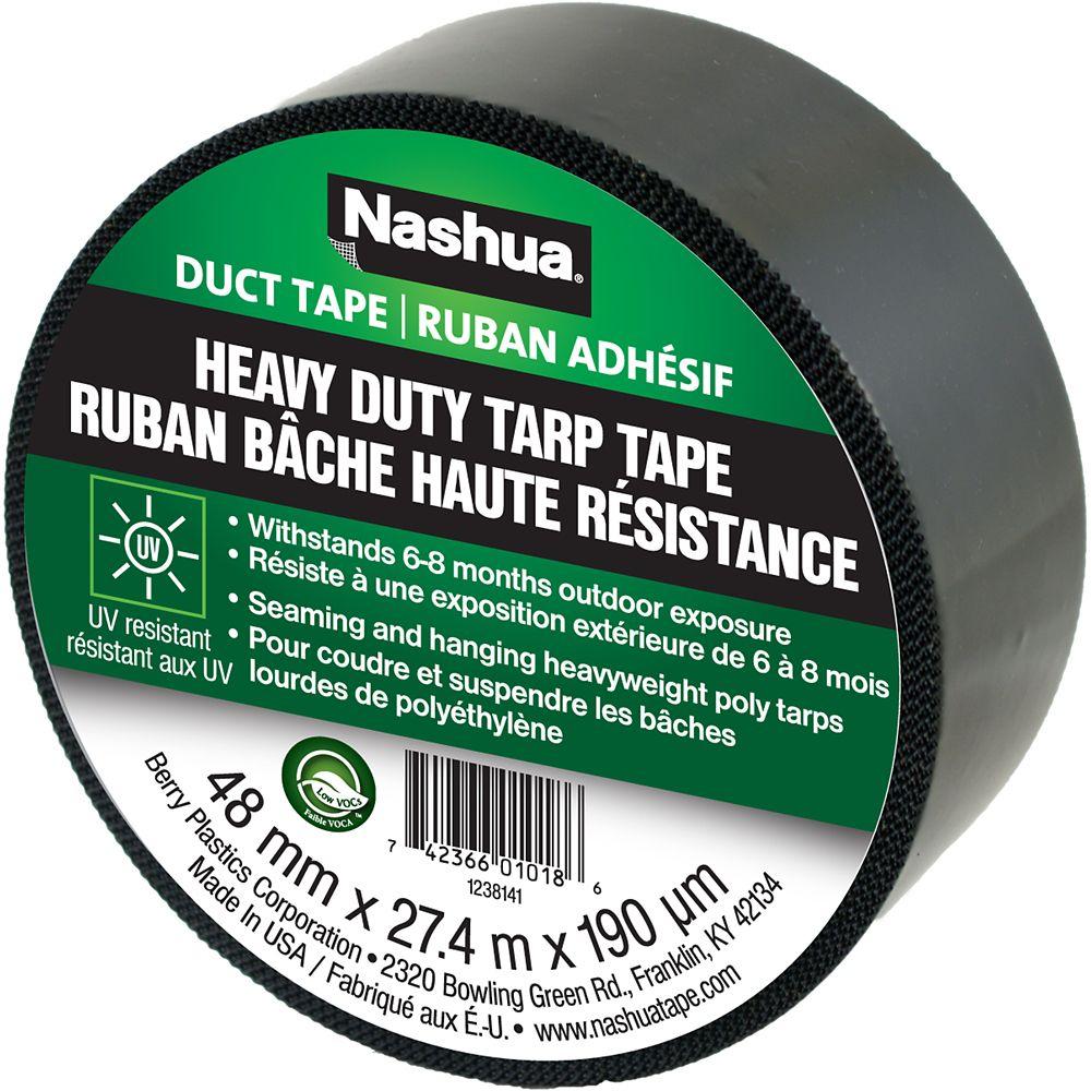 Nashua Heavy Duty Tarp Tape Black 48mm x 27.4m