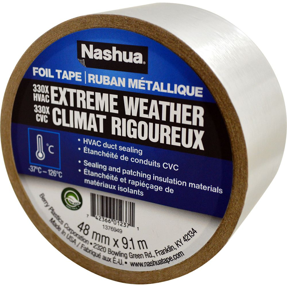 Nashua 330X Extreme Weather Foil Tape 48mm x 9.1m