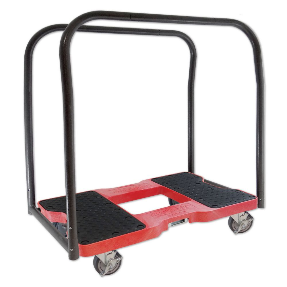SNAP-LOC 1500 Lb. Capacity E-Track Panel Cart & Dolly In Red