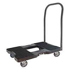 SNAP-LOC Push Cart Dolly, Black