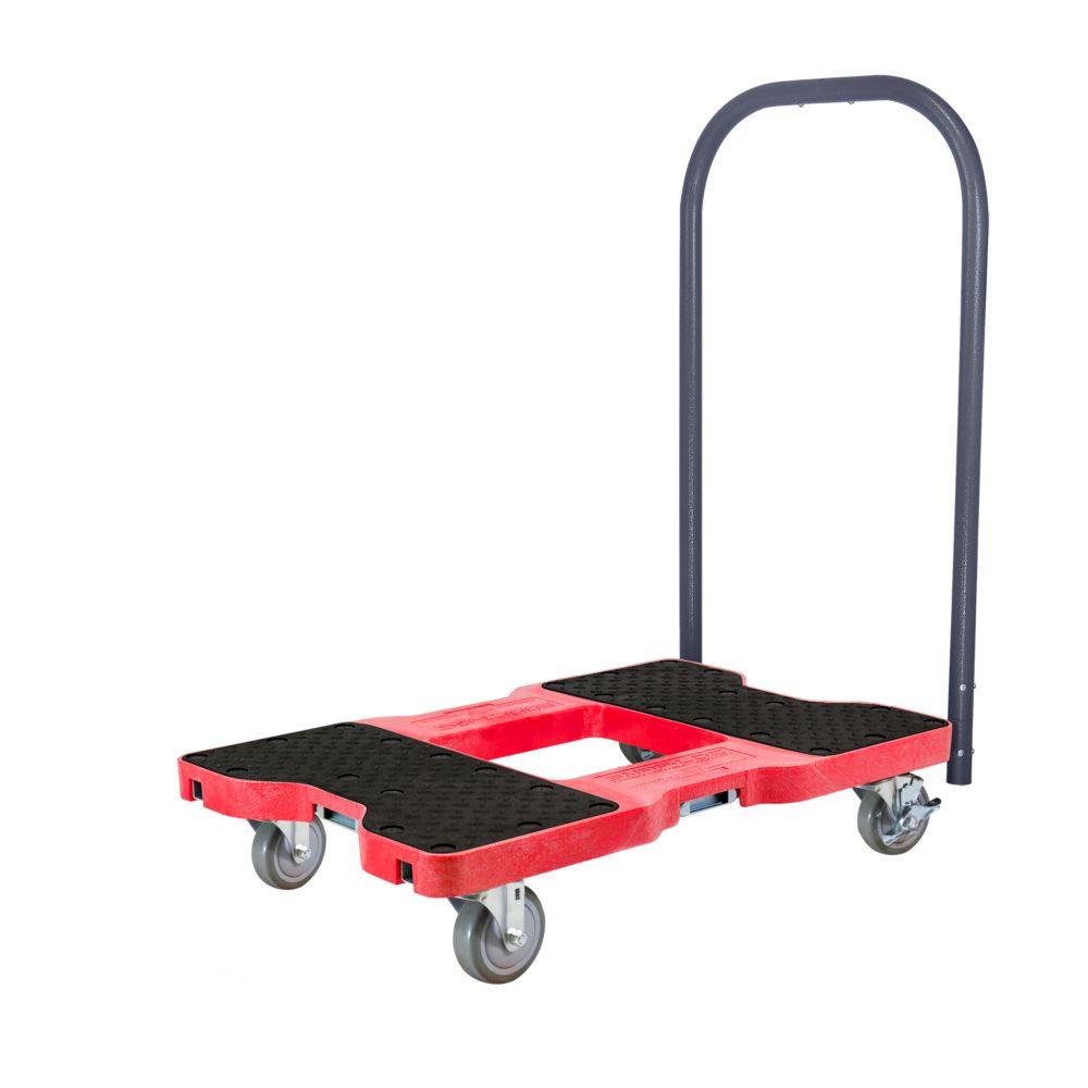 SL1500P4R SNAP-LOC Push Cart Dolly, Red