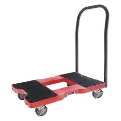 SL1500P4R SNAP-LOC Push Cart Dolly, Red