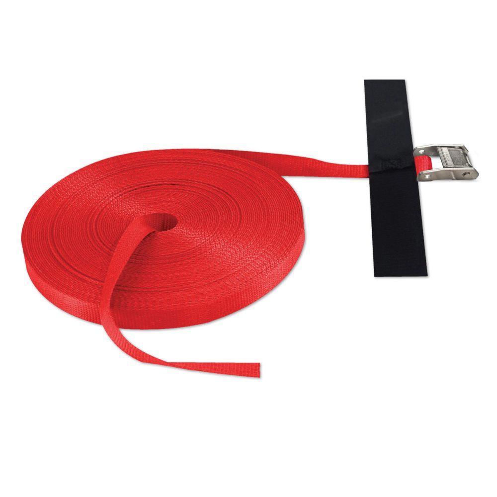 """Sangle 1"""" x 100' avec came, rouge (États-Unis)"""