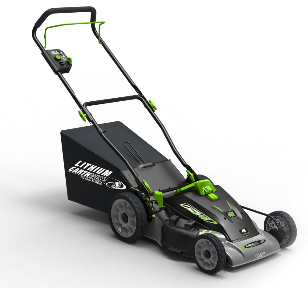 earthwise 18 inch 40v lithium cordless electric lawn mower. Black Bedroom Furniture Sets. Home Design Ideas