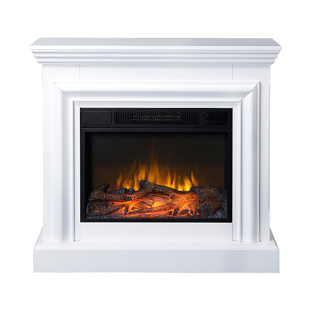 Remarkable 38 Inch Wide Electric Fireplace Mantel In White Download Free Architecture Designs Griteanizatbritishbridgeorg