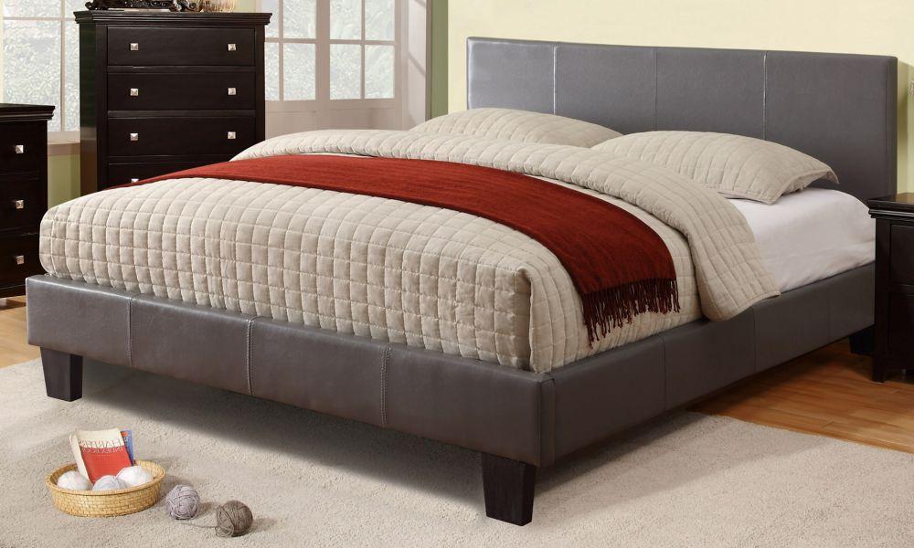 Volt Queen Platform Bed - Grey