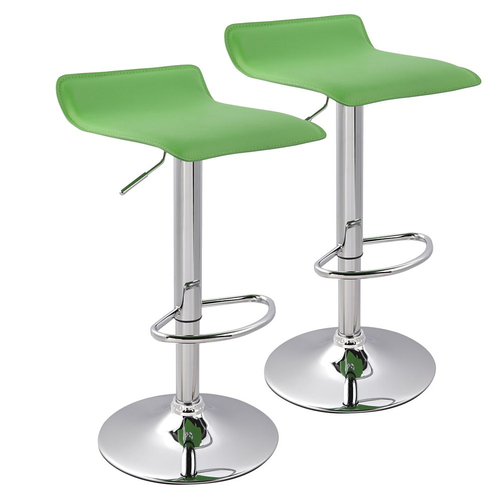 Fabia Box Of 2 Gas Lift Stool Green 203-768GN Canada Discount