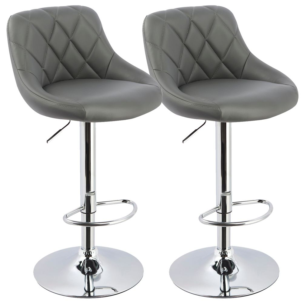 Zola Box Of 2 Gas Lift Stool Grey 203-769GY in Canada