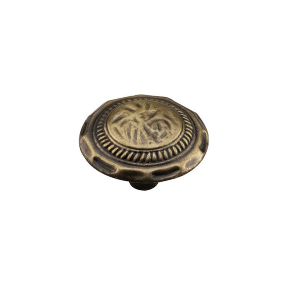Bouton classique en métal - Antique anglais - Dia. 35 mm