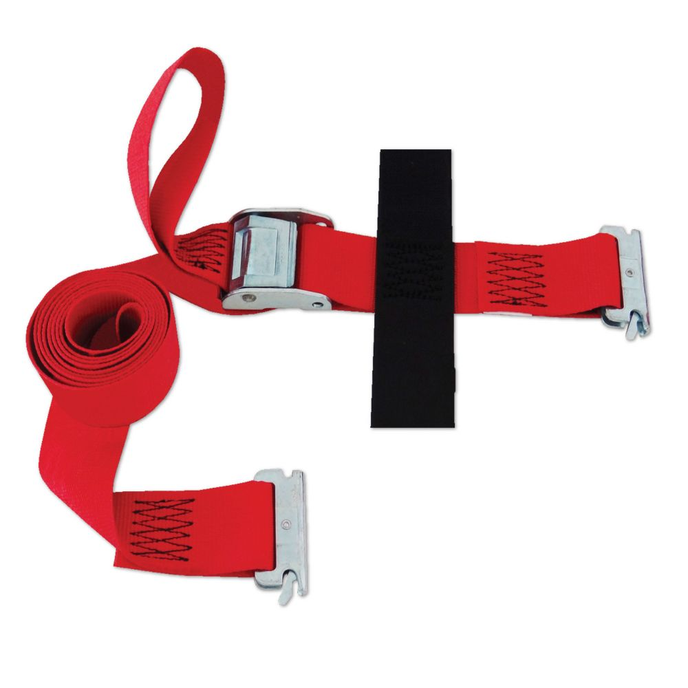 SNAP-LOC Logistic E-Strap 2 Inch.X16 Feet. W/Cam, Red (USA)