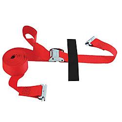 SLTE216CR Sangle E-Strap de logistique 2 pouce x 16 pied avec came, rouge (Import)