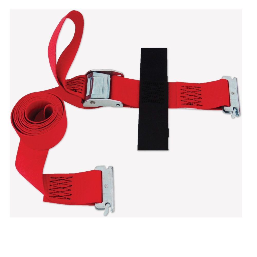 SNAP-LOC Logistic E-Strap 2 Inch.X8 Feet.  W/Cam, Red (USA)