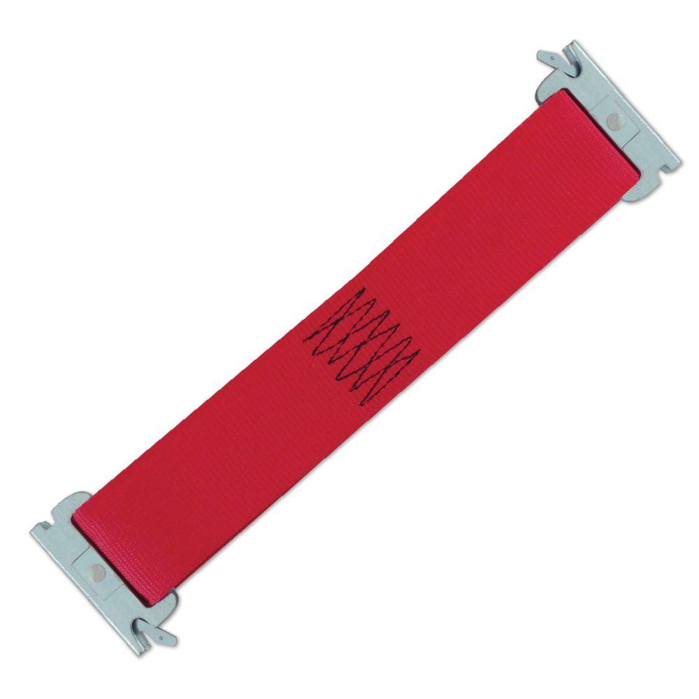 """Sangle E-Strap de logistique 2"""" x 12"""" polyvalente, rouge (États-Unis)"""