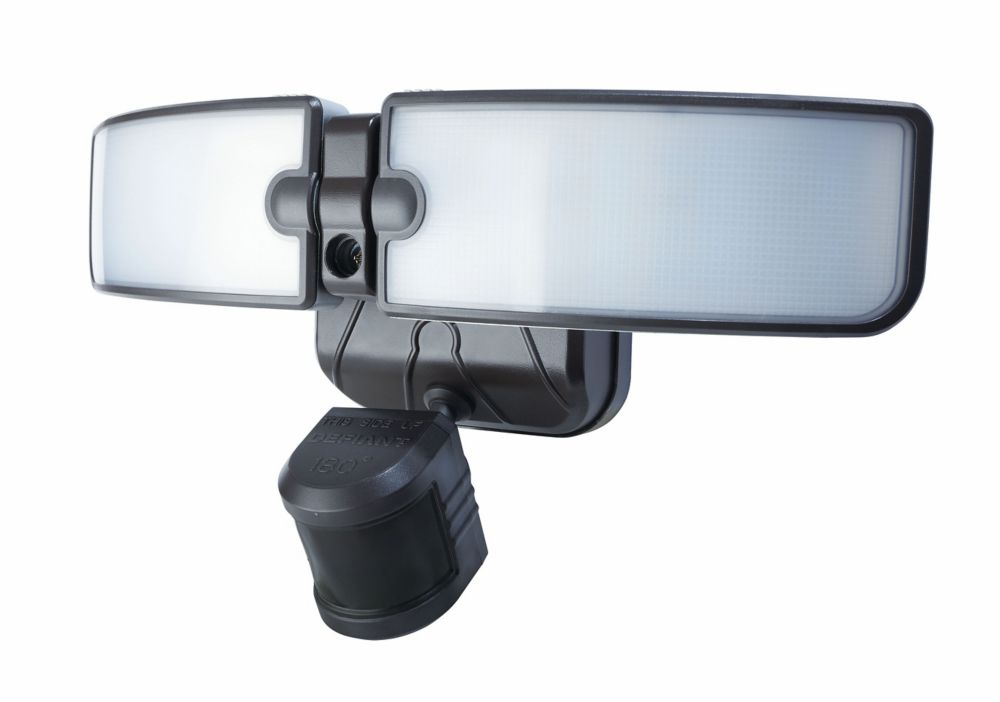 180 Degree Outdoor Bronze LED Blade Motion Security Light