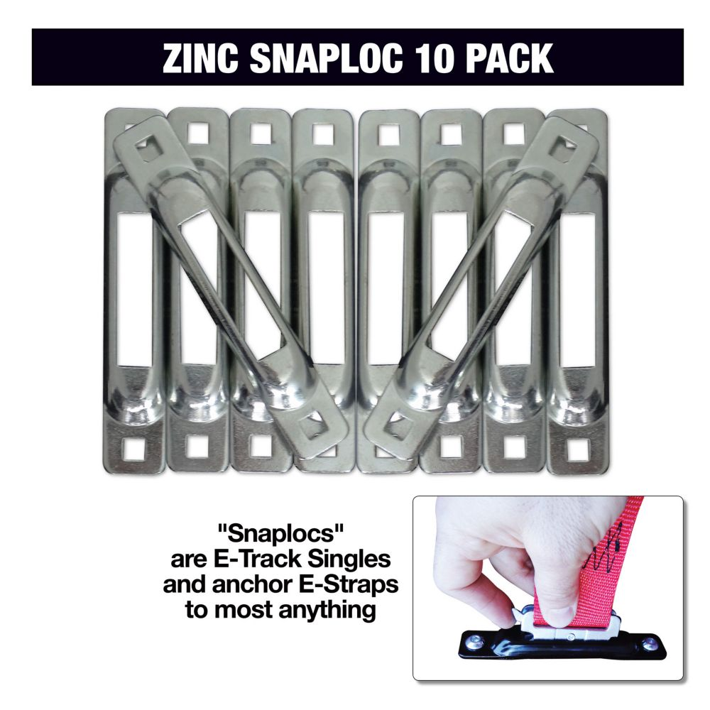 Zinc SNAP-LOC E-Track Single 10 Pack