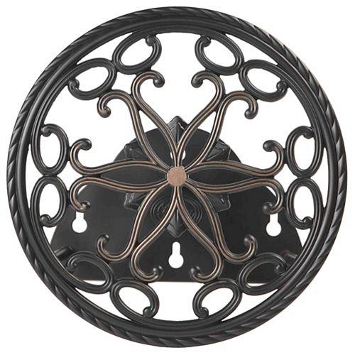 Hampton Bay Round Decorative Hose Butler