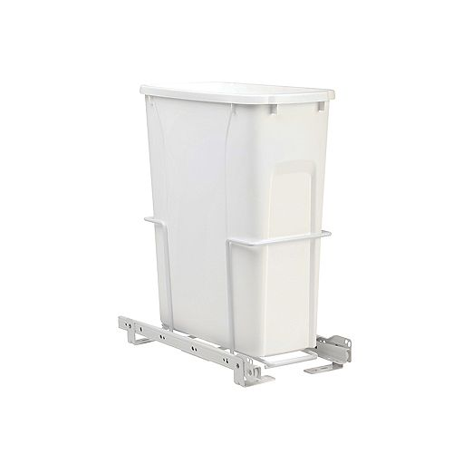 Real Solutions 14.37-inch x 16-inch x 17.43-inch 18.9 L In Cabinet Pull-Out Single Trash Can