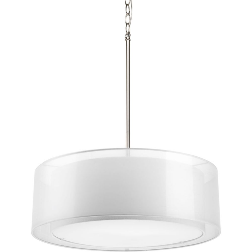 Cuddle Collection 3-Light Brushed Nickel Pendant