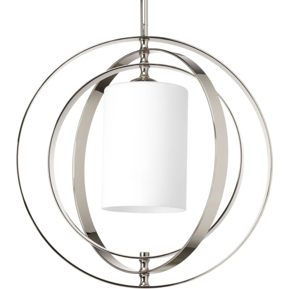 Progress Lighting Equinox Collection 1-Light Polished Nickel Pendant