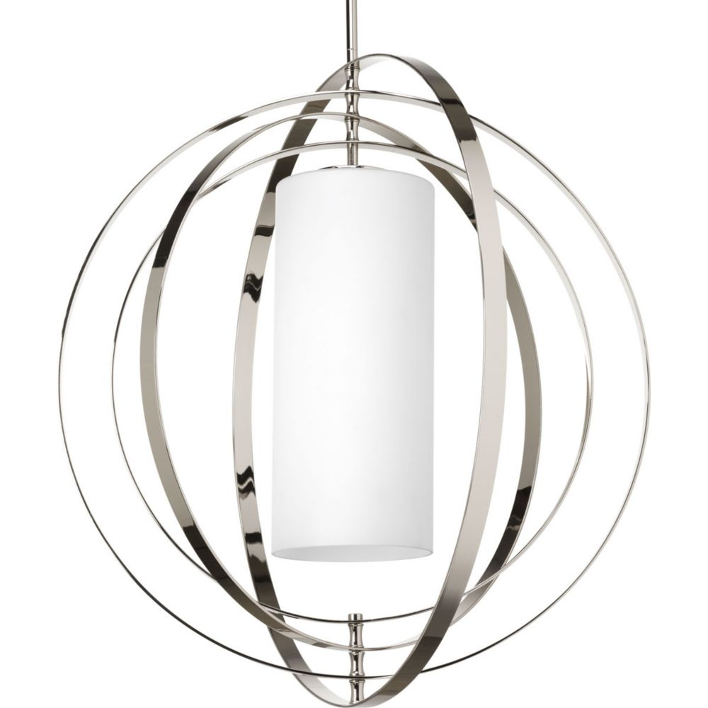 Progress Lighting Equinox Collection 1-Light Polished Nickel Pendant