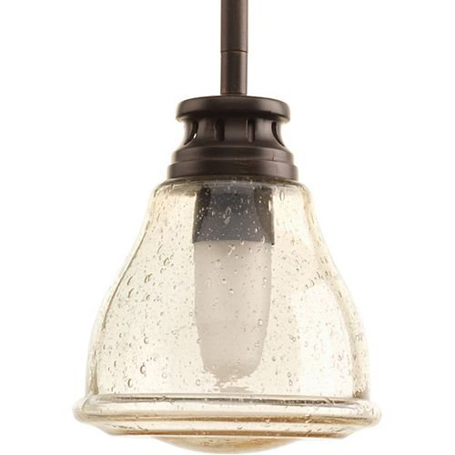Progress Lighting Academy Collection 1-Light Antique Nickel Mini-Pendant