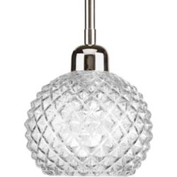 Progress Lighting Entice Collection 1-Light Mini-Pendant in Polished Nickel