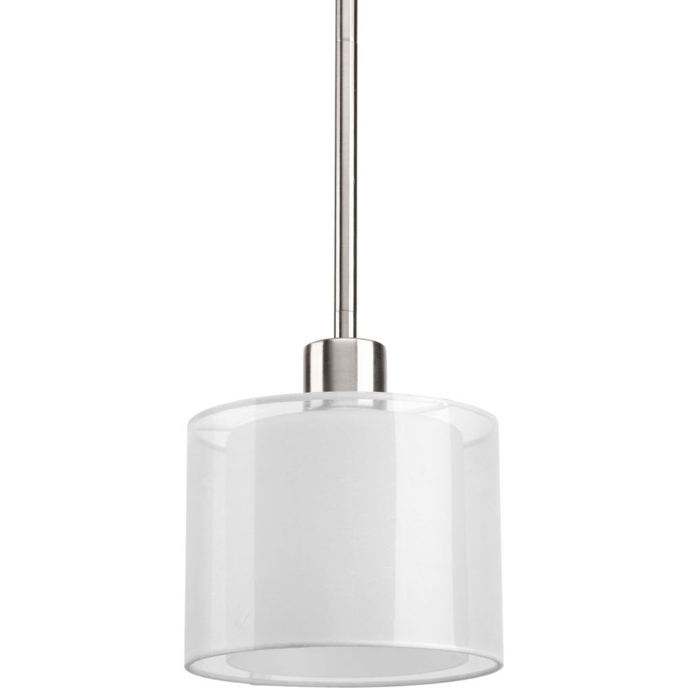 Invite Collection 1-Light Brushed Nickel Mini-Pendant