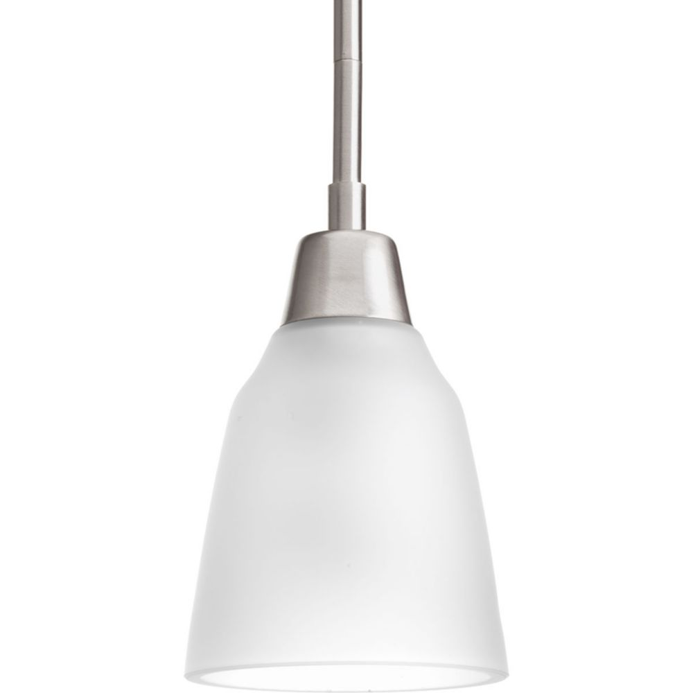 Asset Collection 1-light Brushed Nickel Fluorescent Mini-Pendant
