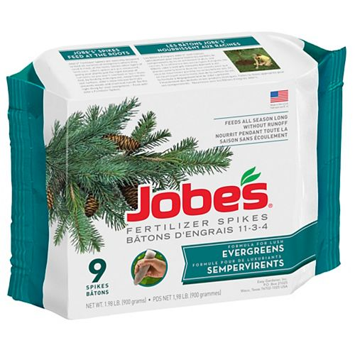 Jobe's Organics Evergreen Fertilizer Spikes (9-Pack)