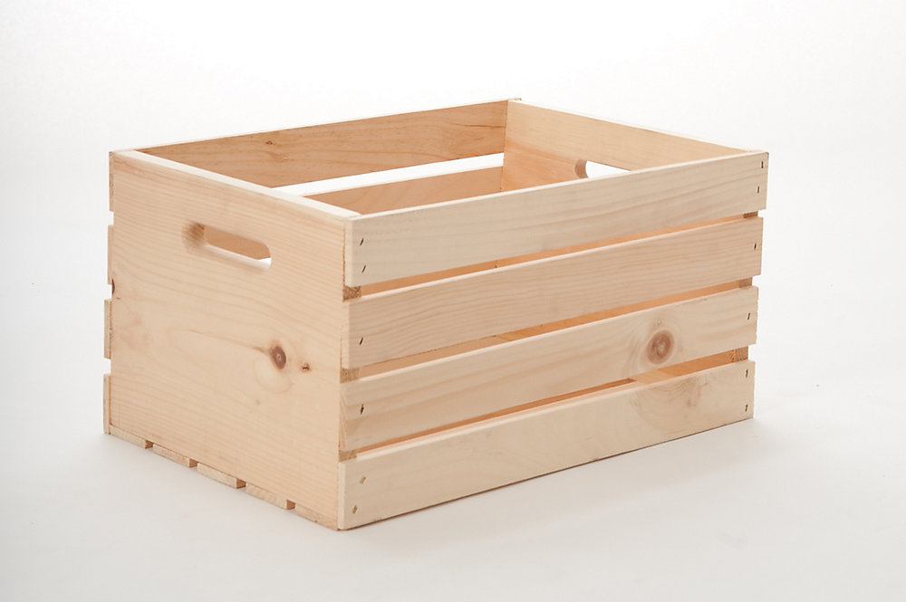 13 Inch X 18 Inch X 10 Inch Wooden Crate