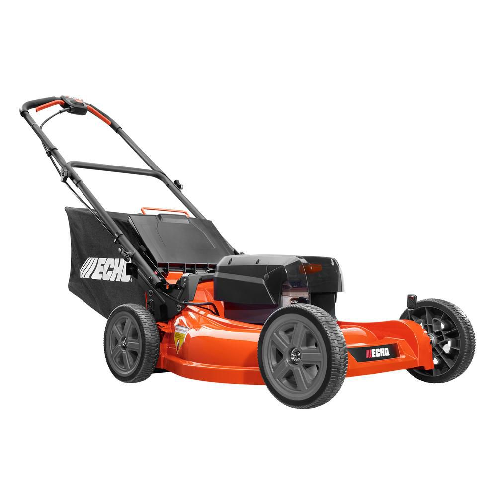 ECHO 21-inch 58V Brushless Li-Ion Cordless Battery Push Lawn Mower with Batteries and Charger