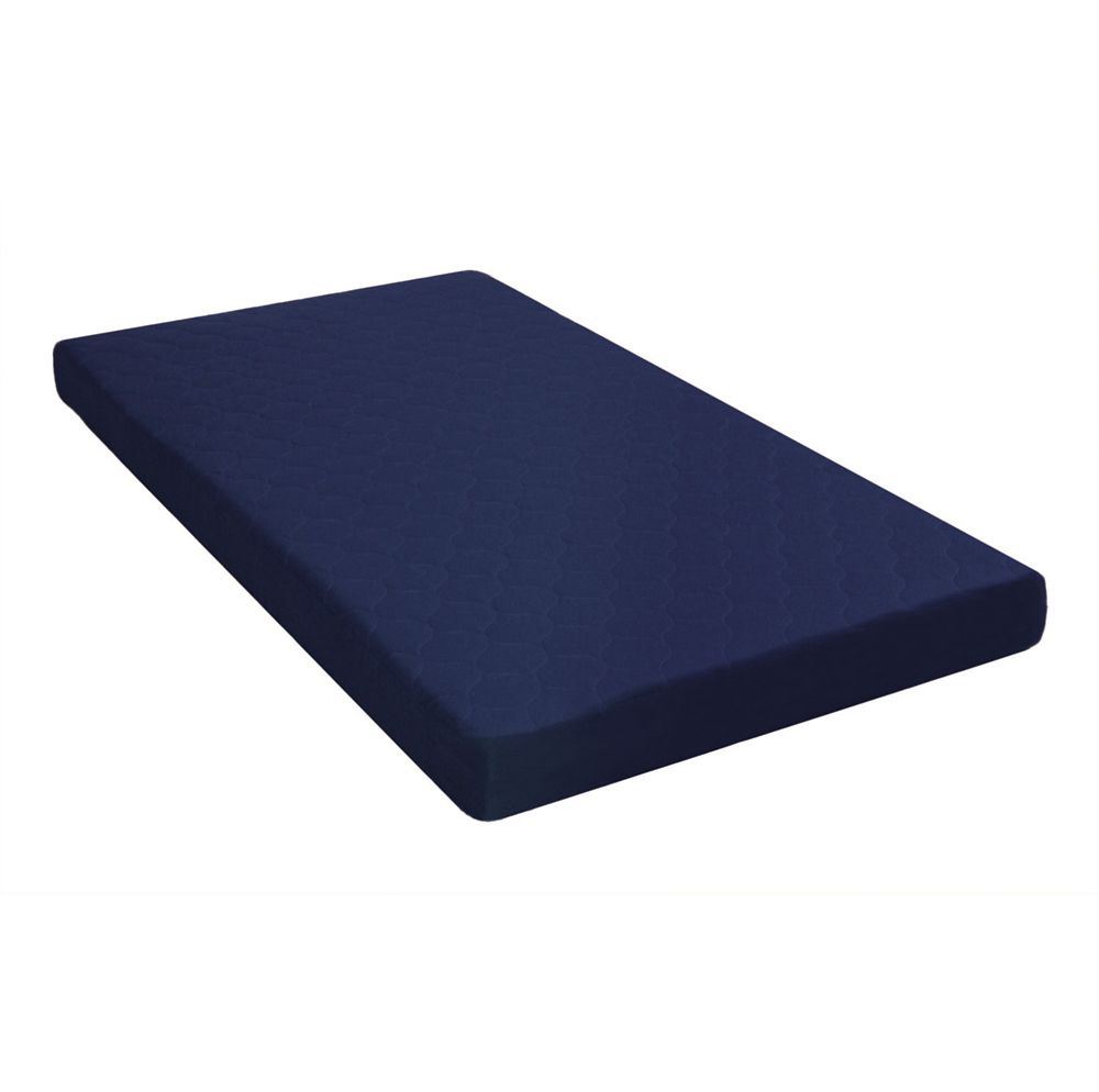 DHP 6 Inch Twin Quilted Top Bunk Bed Mattress Navy Blue