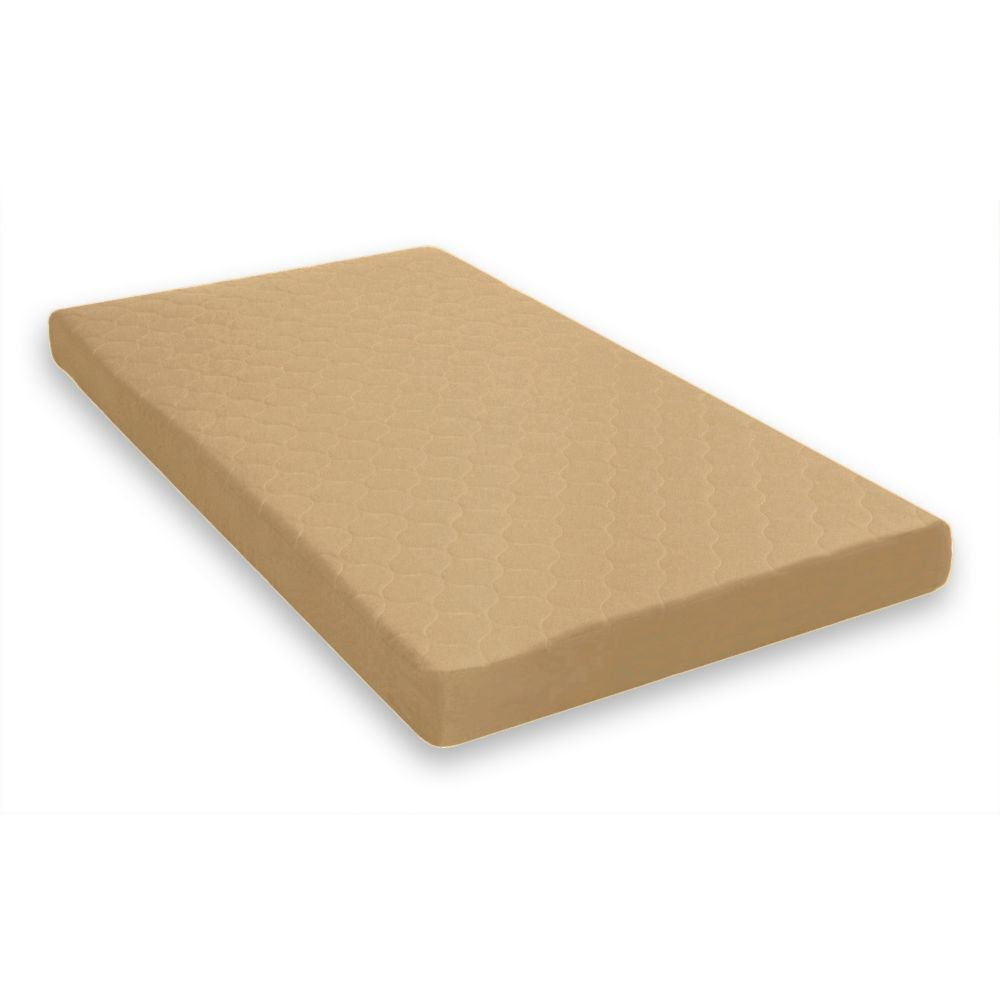 DHP 6 Inch Twin Quilted Top - Bunk Bed Mattress, Tan