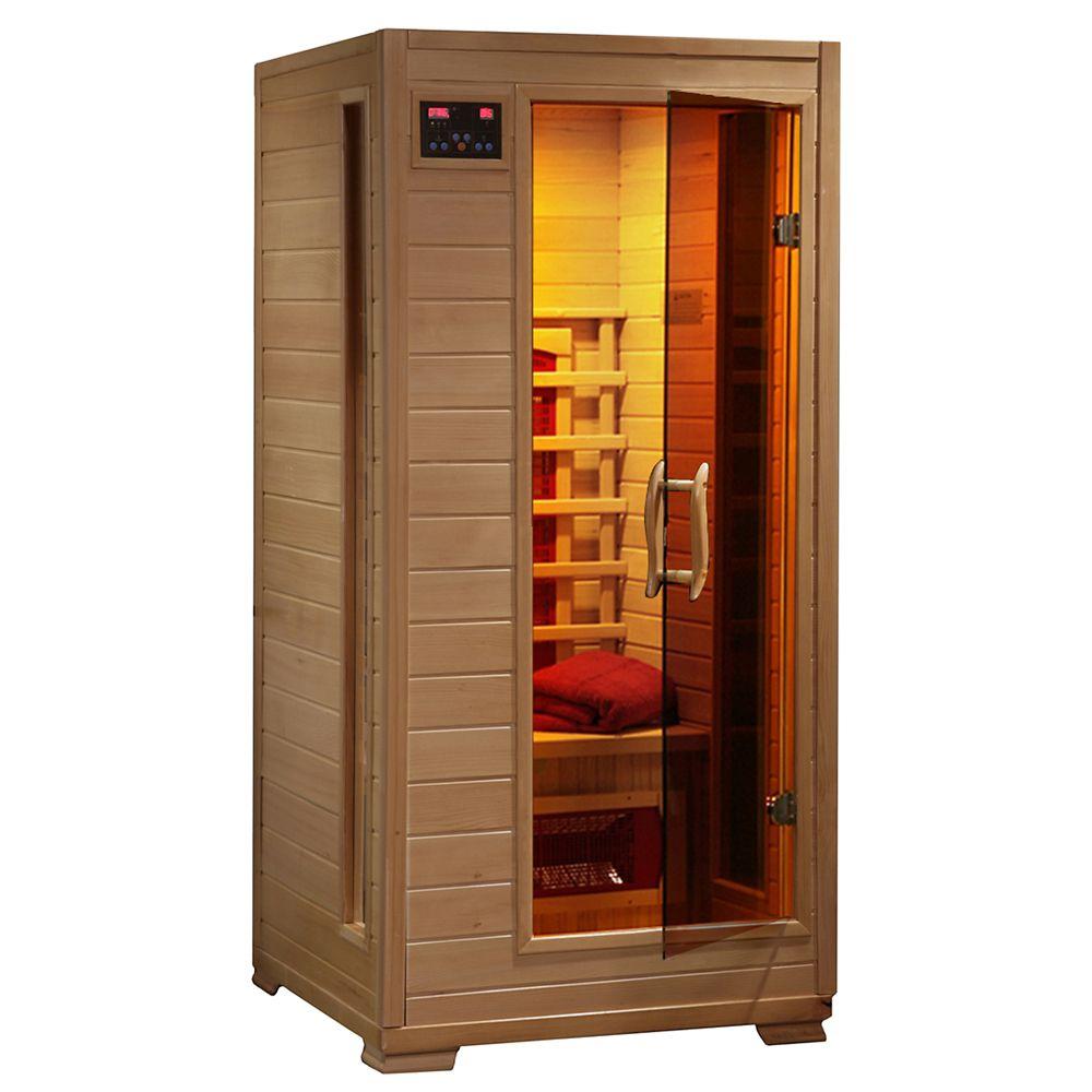Radiant 1-Person Hemlock Infrared Sauna with 3 Ceramic Heaters