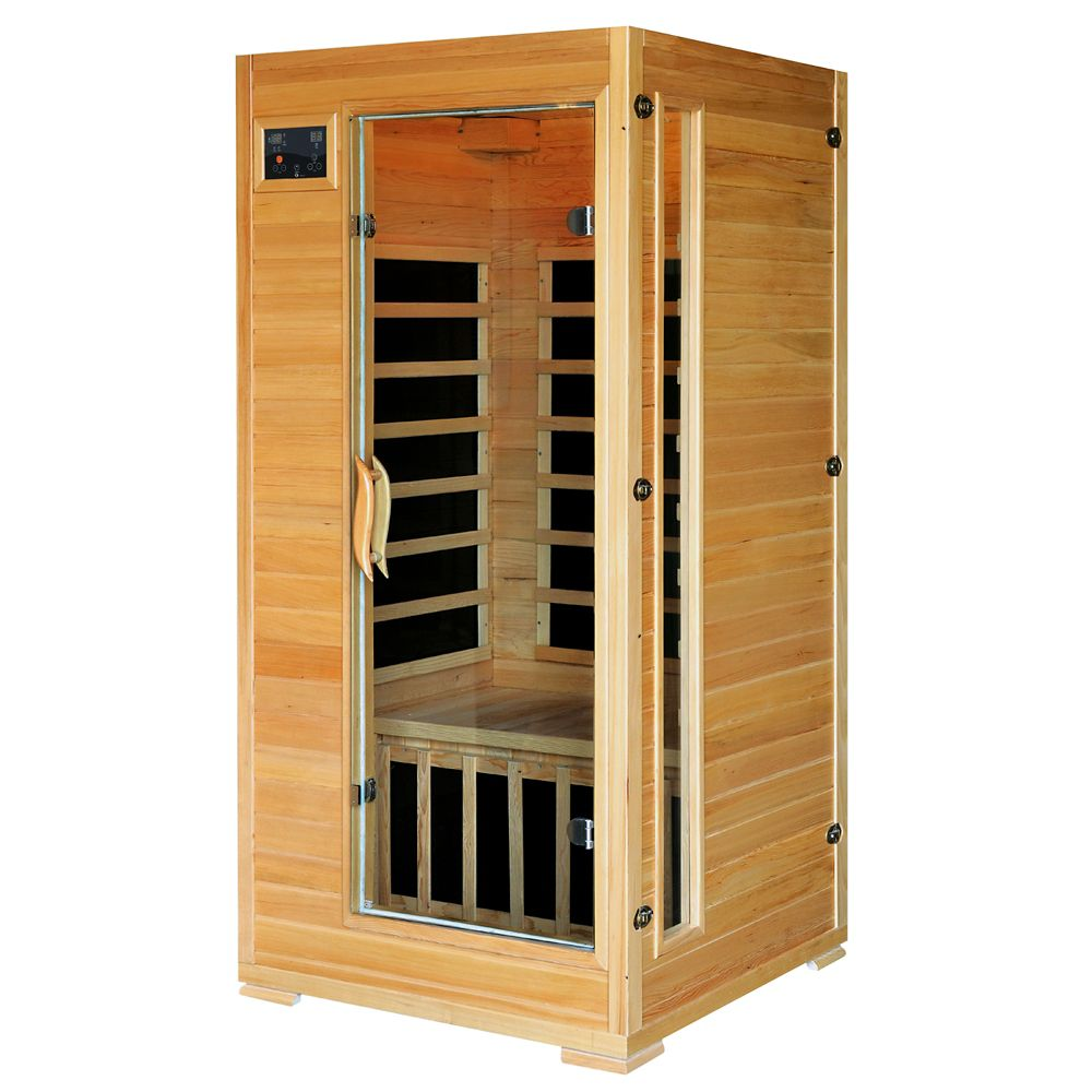 Radiant 1-2-Person Hemlock Infrared Sauna with 4 Carbon Heaters