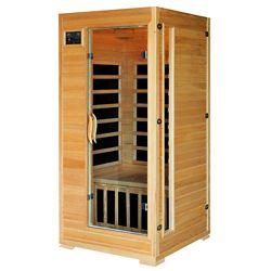 Radiant Sauna en pruche infrarouge pour 1-2 personnes avec 4 radiateurs en carbone